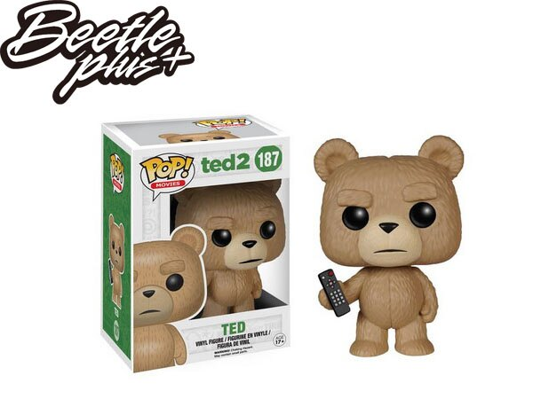 BEETLE  FUNKO POP TED 2 熊麻吉 泰德 憤怒版 雷雷夥伴 Q版 公仔 玩具 電影 模型 泰迪熊 FUN-14 0