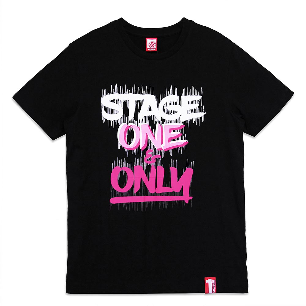 STAGEONE ONE & ONLY BRUSH TEE 黑色 / 白色 兩色 4