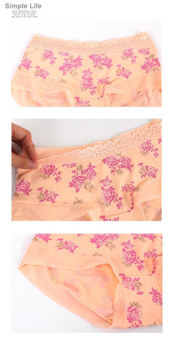 3件199免運【AJM】莫代爾纖維 玫瑰女神低腰平口褲3件組(隨機色) 2