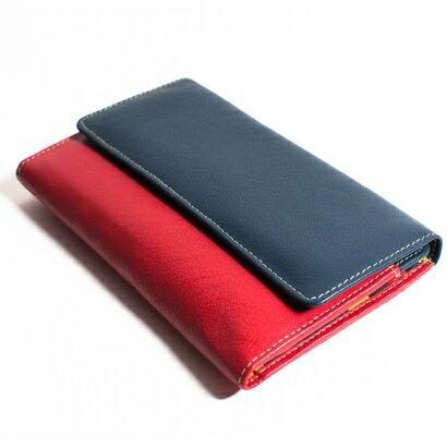 Golunski Kimberley Womens Leather Purse (red/navy) 0