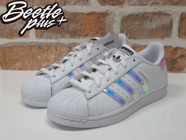 女生 BEETLE ADIDAS SUPERSTAR GRADE SCHOOL 愛迪達 金標 雷射 反光 AQ6278 1