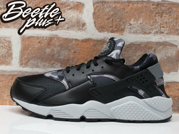 BEETLE WMNS NIKE AIR HUARACHE RUN PRINT 黑白 迷彩 武士鞋 725076-003 US12 0