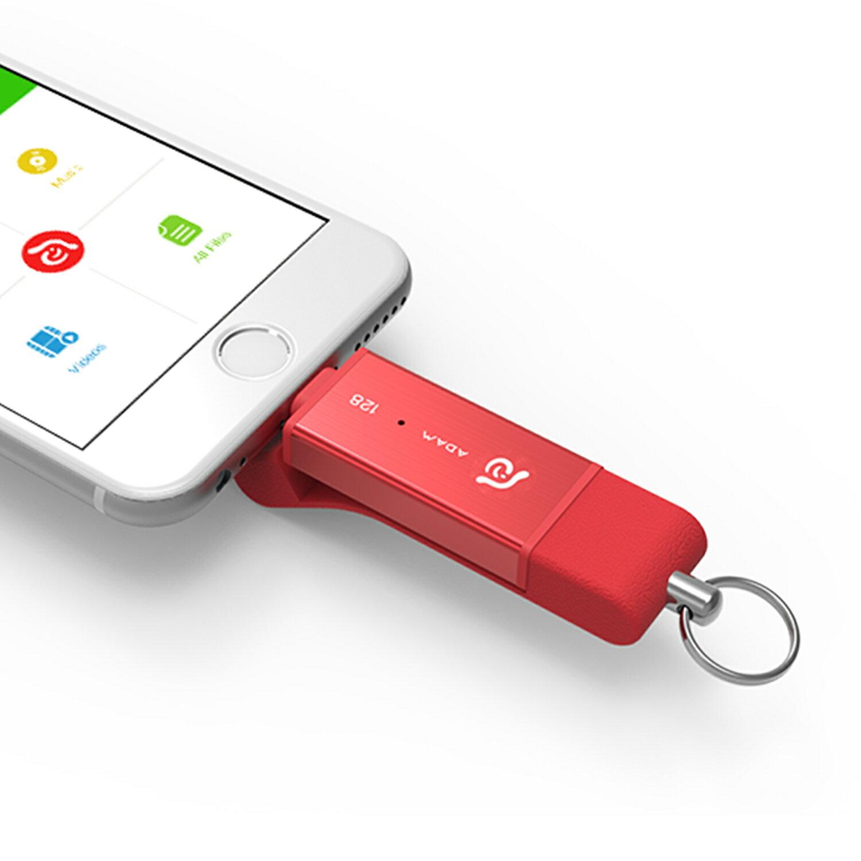 【亞果元素】iKlips DUO Apple雙向極速多媒體行動碟 128GB 4
