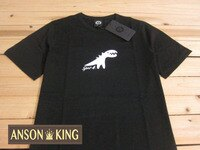 agnès b.到[Anson king]outlet國外代購 agnes b.sport b 白色小恐龍 短袖 圓領 男款 T恤 黑
