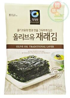 【韓購網】韓國大象岩燒大片海苔20g★清淨園橄欖油添加傳統海苔★韓國岩燒海苔零食