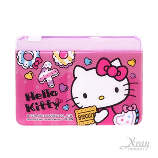 X射線【C919039】Hello Kitty票夾(桃.餅乾),多功能夾/悠游卡