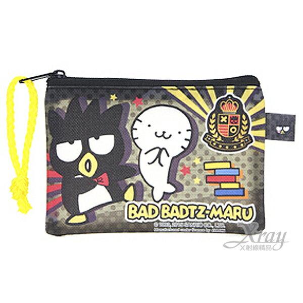 X射線【C935565】酷企鵝 Bad Badtz-maru 拉鍊袋,票夾/收納本/多功能卡片套/收集冊