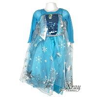 X射線【W380118】艾紗長裙(藍衣),冰雪奇緣/化妝舞會/萬聖節/聖誕節/兒童變裝/cosplay