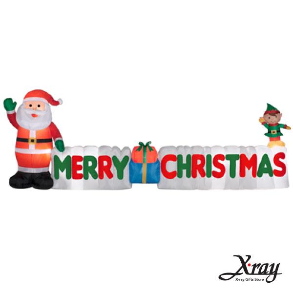 X射線【X007838】127CM聖誕老公公字母充氣,聖誕佈置/充氣擺飾好收納/聖誕充氣