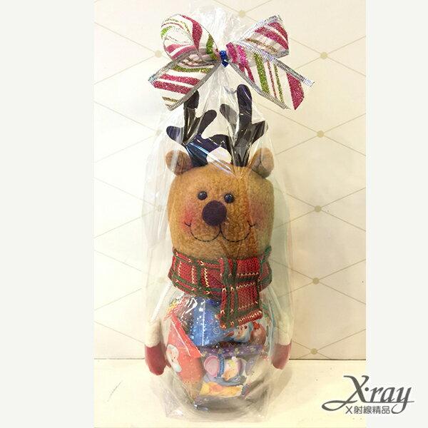 X射線【X717198】麋鹿糖果罐組(罐子+糖果+包裝),玩偶糖果罐/聖誕節/交換禮物/聖誕小禮物/收納罐
