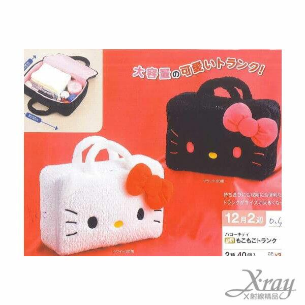 X射線【C010324】Hello Kitty大臉手提化妝包景品(白色),包包/手提包/帆布袋