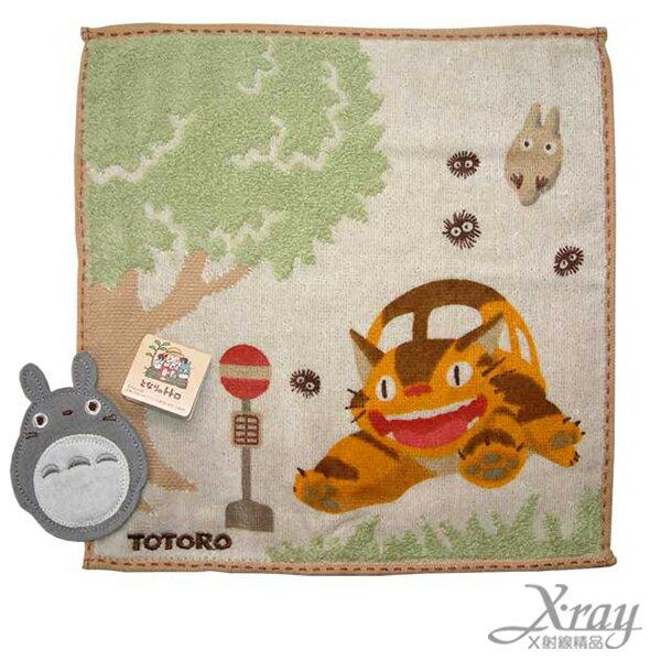 X射線【C040900】TOTORO 毛巾(公車站牌),浴巾/毛巾/盥洗小物/龍貓/宮崎駿