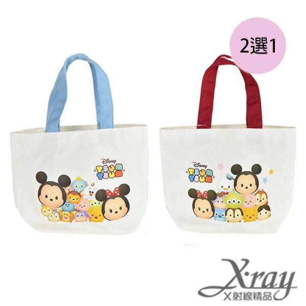 X射線【C496362】迪士尼 Tsum Tsum 帆布提袋-紅.藍(2選1),書袋/購物袋/便當袋/手提袋/開學必備