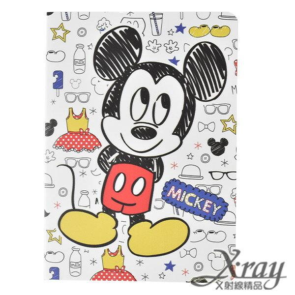 X射線【C104761】米奇米妮筆記本100K,便條紙/記事本/辦公小物/米奇米妮