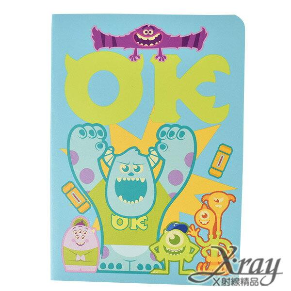 X射線【C104785】怪獸大學筆記本100K,便條紙/記事本/辦公小物/怪獸大學