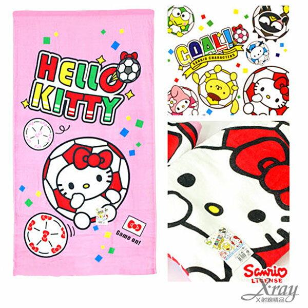 X射線【C251283】Hello Kitty 童巾-世足賽,洗澡巾/紗布巾/毛巾/開學必備/攜帶方便