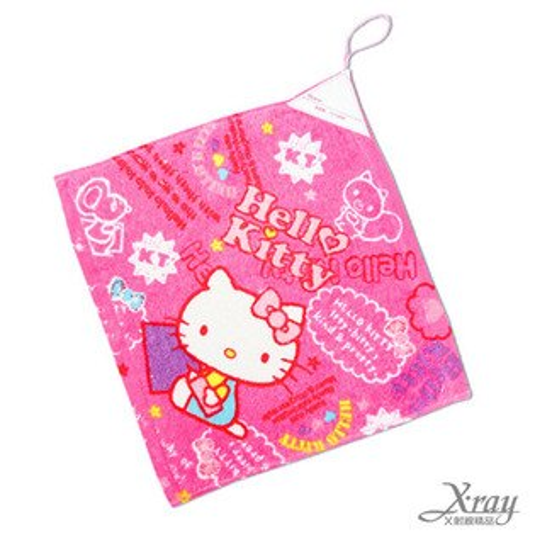 X射線【C252181】Hello Kitty擦手掛巾-寫生,洗澡巾/紗布巾/毛巾/開學必備/攜帶方便