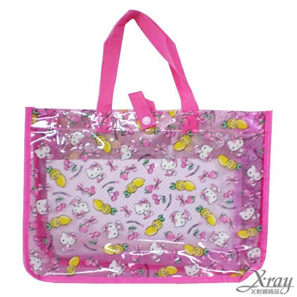 X射線【C267677】Hello Kitty 防水提袋-水果,提袋/手提包/包包/帆布包