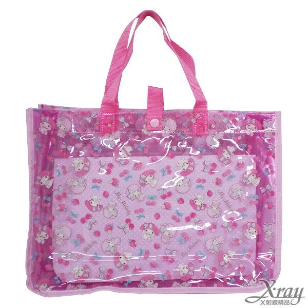 X射線【C267714】美樂蒂防水提袋-櫻桃,提袋/手提包/包包/帆布包