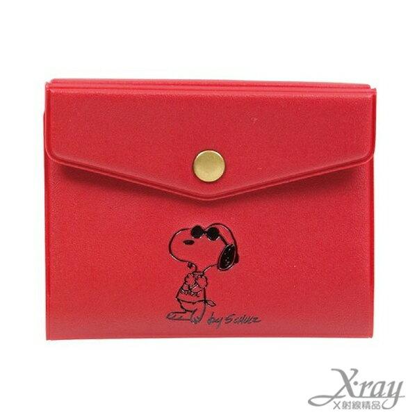 X射線【C491189】史努比美式風格卡片收納夾-紅,收納/皮夾/卡夾