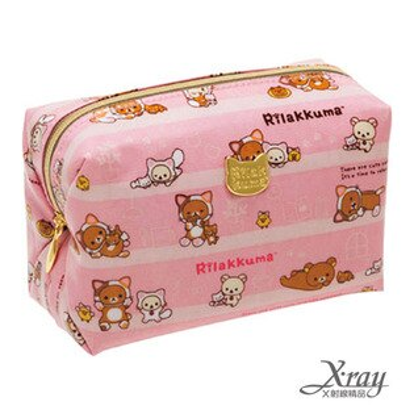 X射線【C649483】懶熊變身貓化妝包,萬用包/包包/皮夾/零錢包