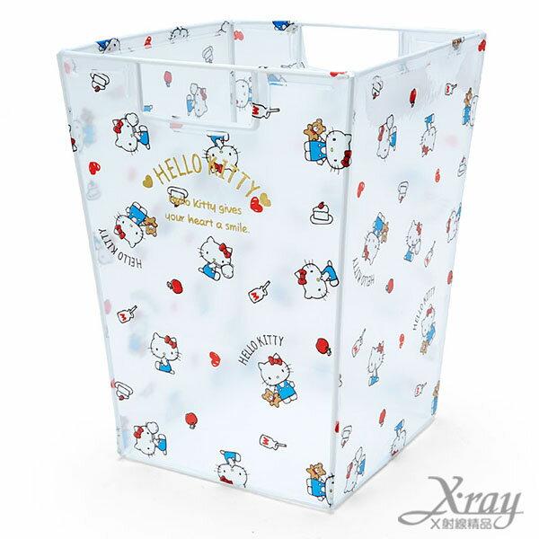 X射線【C512760】Hello Kitty透明垃圾桶,置物筒/垃圾筒/卡通/可愛日式/收納/Keroppi/三麗鷗/日式精品