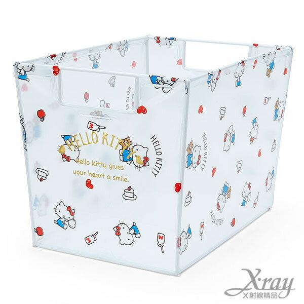 X射線【C513163】Hello Kitty透明長型收納箱,置物筒/卡通/可愛日式/收納/三麗鷗/日式精品