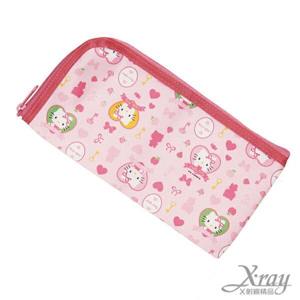 X射線【C330162】Hello Kitty餐具收納袋,餐具組/環保/開學/便當/兒童