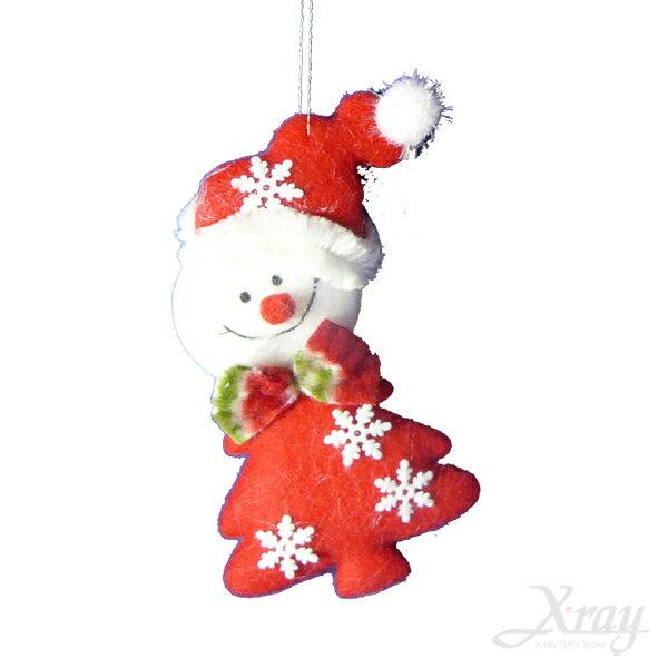 """X射線【X644663】4.5""""雪花聖誕樹吊飾(雪人),聖誕佈置/聖誕掛飾/裝飾/吊飾/聖誕樹"""