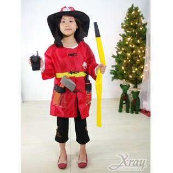 X射線【X370014】消防員裝,聖誕衣/萬聖節服裝/化妝舞會/派對道具/兒童變裝/職業