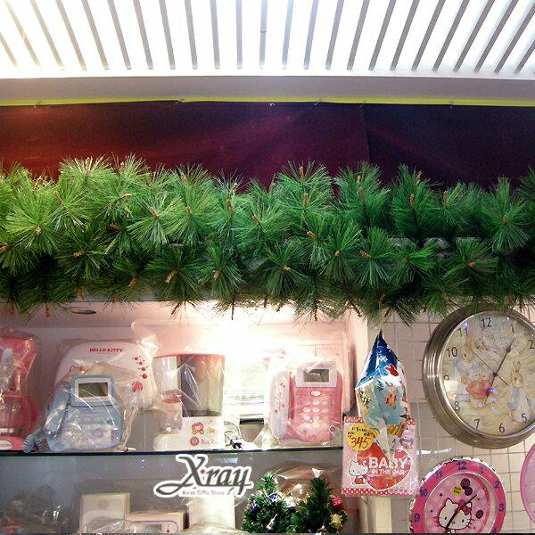 X射線【X030012】9呎松針藤(綠),空樹藤/聖誕樹/聖誕藤/聖誕佈置/門面設計