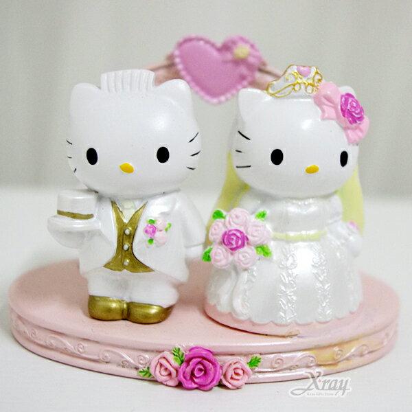 X射線【C013525】Kitty婚禮名片座,卡通/相框/擺飾/情人節/聖誕節/送禮/婚禮小物/文具/辦公用品