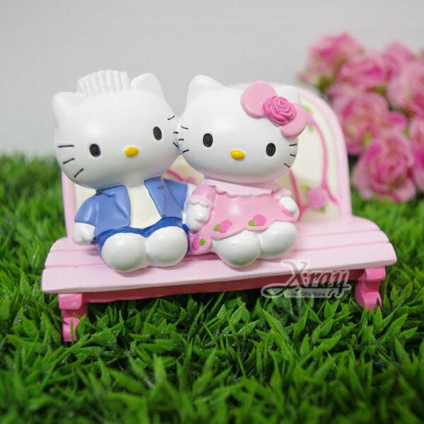 X射線【C026266】kitty情人椅手機座(粉色玫瑰花),名片座/擺飾/情人節/婚禮小物
