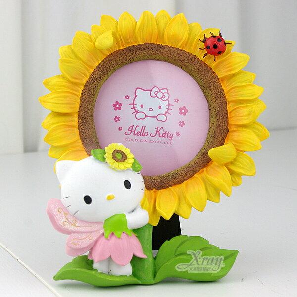 X射線【C030522】Kitty太陽花3X3相框(粉),卡通/裝飾/擺飾/送禮/辦公用品/畢業禮物/家庭雜貨/婚禮小物