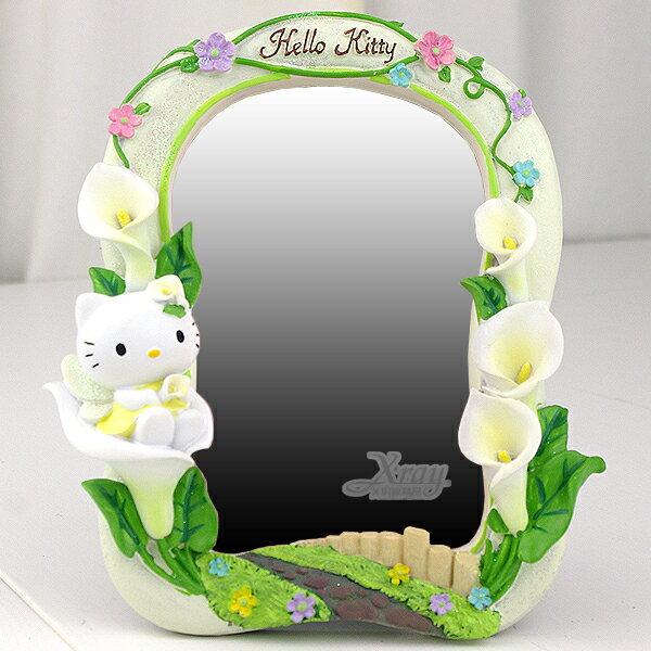X射線【C030546】Kitty海芋4X6鏡子相框,卡通/裝飾/擺飾/送禮/辦公用品/畢業禮物/家庭雜貨/婚禮小物