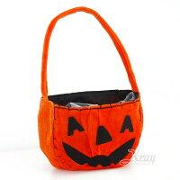 萬聖節Halloween到X射線【W647336】密絲絨南瓜糖果袋,萬聖節糖果提籃/糖果籃/派對道具/兒童變裝