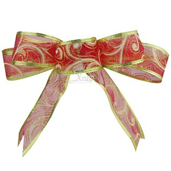 X射線【X990010】手工緞帶-紅(6入),聖誕節/聖誕花/聖誕佈置/聖誕掛飾/聖誕裝飾/聖誕吊飾/禮物袋