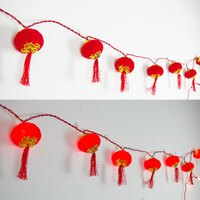 X射線【Z055515】16燈宮燈(圓),春節/過年/燈籠/過年佈置/羊年/掛飾/吊飾