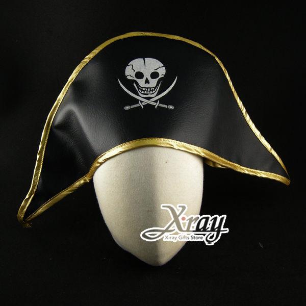 X射線【W100050】海盜帽(金邊),萬聖節服裝/派對用品/舞會道具/cosplay服裝/角色扮演