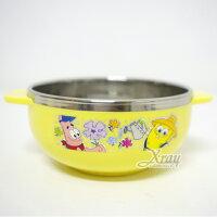 海綿寶寶週邊商品推薦X射線【C011437】海綿寶寶鋼碗,餐具組/環保/開學/便當盒~