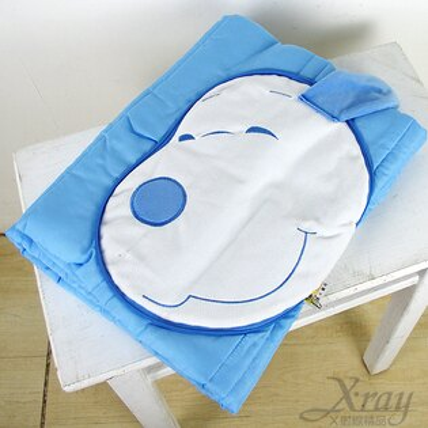 X射線【C602000】史奴比造型棉被抱枕(藍),可當棉被又可收納成抱枕/枕頭/抱枕/靠墊/午睡枕