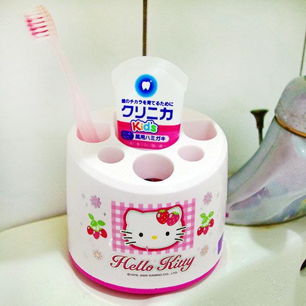 X射線【C140055】Kitty牙刷架(粉色.草莓),牙刷架.牙膏筒.筆筒.韓國製