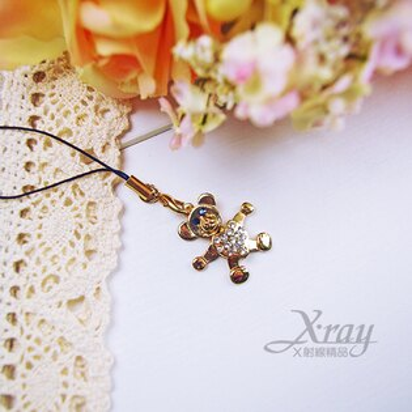 X射線【B529128】造型水晶小熊吊飾 施華洛水晶鑽手機吊飾/吊飾品/包包吊飾 生日禮物/情人節送禮 名媛的最愛