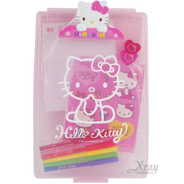 X射線【C349175】Kitty夾板文具組,自動鉛筆/開學用品/橡皮擦/卡通/鉛筆盒/筆袋