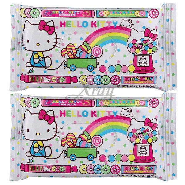 X射線【C113907】kitty濕紙巾(白.彩虹)2入,旅遊外出攜帶方便~