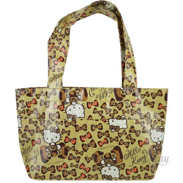 X射線【C117097】kitty提袋S(豹紋.蝴蝶結),手提袋/便當袋/收納袋/儲物袋/書袋/萬用袋