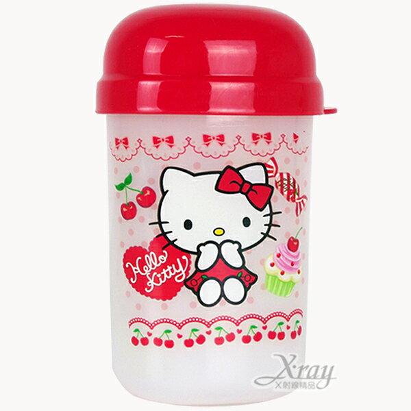 X射線【C128000】HelloKitty 隨身毛巾桶,置物盒/收納桶/收納盒/毛巾盒