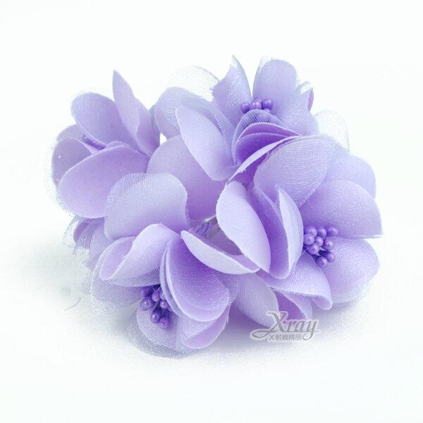 X射線【Y100013】圓滿裝飾花5入(紫),婚禮小物/婚禮佈置/DIY手工藝/花束材料/包裝材料