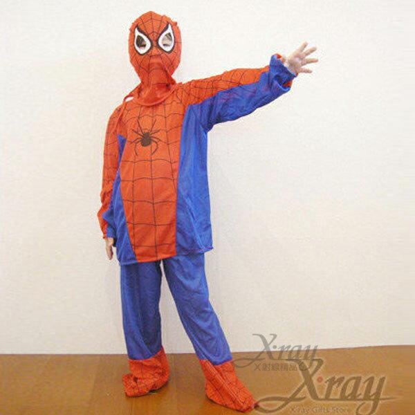 X射線【W370104】二件式蜘蛛人服裝,Party/角色扮演/化妝舞會/兒童表演造型/萬聖節造型服裝
