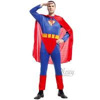 蝙蝠俠與超人周邊商品推薦X射線【W910295】大人無敵 超人 (連身附披風),萬聖節服裝/化妝舞會/派對道具/春酒尾牙變裝